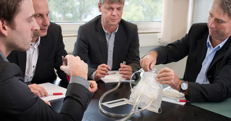 Das Produktmanagement-Team von HMT Medizintechnik