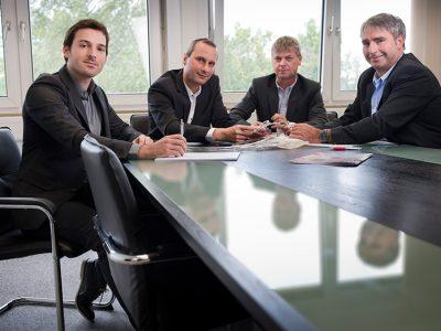Das Produktmanagement-Team von HMT